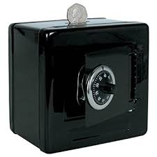 money box metal safe money box black by money boxes and piggy