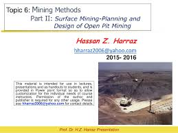 how to open a miner s l pdf mining methods part ii surface mining planning and design of