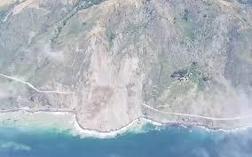 Big Sur Map Big Sur Highway 1 Buried At Mud Creek Slide The Tribune