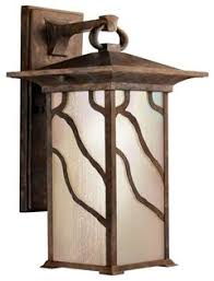 Mission Wall Sconce Morris 1 Light Outdoor Wall Mount Distressed Copper