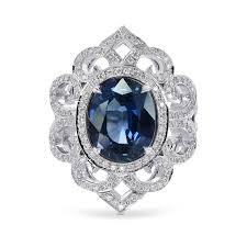 all sapphire rings images 3 42ct oval sapphire and diamond dress ring sku 160151 3 93ct tw jpg