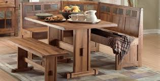 Rustic Vintage Dining Area Bench Wonderful Rustic Kitchen Table With Bench Furniture