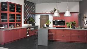 Red Lacquer Kitchen Cabinets Kitchen Alno Kitchen Features Brown Kitchen Cabinet And Island
