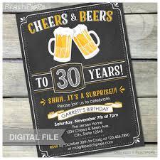 surprise 30th birthday invitation cheers u0026 beers invite