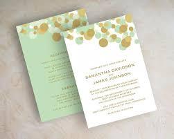 contemporary wedding invitations mint and gold wedding invitations stephenanuno