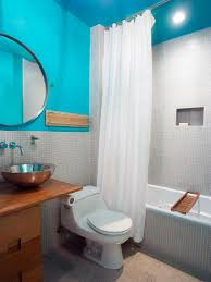 What Kind Of Paint For Bathroom by Bathroom Blue Sea And White For Bathroom Paint Type And Wood