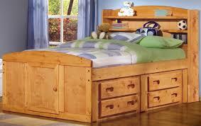 kids bedroom elegant brown wooden kids bed headboard and rack