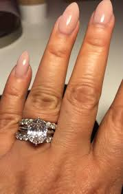 engagement rings size 8 my customized 3 carat oval ring placed in between 2 x 3 5
