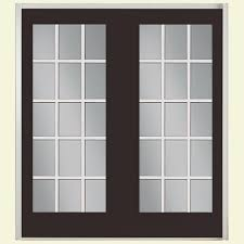 Hinged French Patio Doors by Masonite 72 In X 80 In Willow Wood Prehung Right Hand Inswing 15