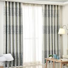 Curtains In A Grey Room Modern Thick Suede Geometric Curtains For Living Room Bedroom