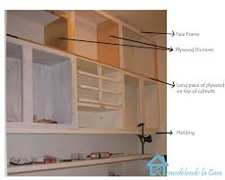 how to make cabinets go to ceiling building the cabinets up to the ceiling remodelando la casa