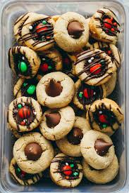 christmas cookies peanut butter blossoms christmas lights decoration