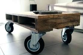Rustic Coffee Table On Wheels Rustic Coffee Table On Wheels 15 Adorable Pallet Coffee Table