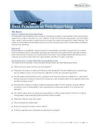 best practices in benchmarking meridian compensation partners