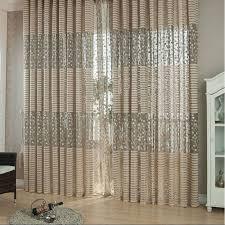 jacquard flower pattern net curtains for window elegant curtains