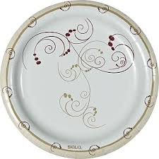 paper plates symphony medium weight paper plates 8 1 2 125 pack staples