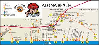 alona resort map map alona