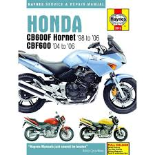 workshop manual honda cb600f fs hornet 98 06 cbf600n na s sa