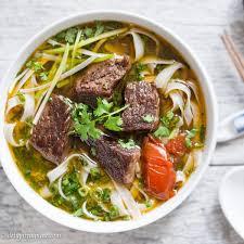 pho cuisine beef stew pho noodle soup pho bo sot vang delightful