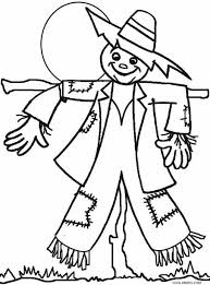 printable scarecrow coloring pages kids cool2bkids