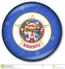 State Flag Meanings Minnesota State Flag Button Stock Illustration Illustration Of