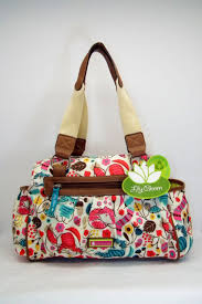 lilly bloom bloom lovecats cats section landon satchel tote