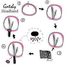 how to make a 1920s hairpiece gatsby flapper girl headband prom ideas pinterest flapper