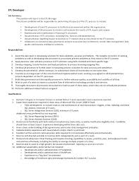 Sample Etl Testing Resume by Pharmmd Etl Developer Job Description