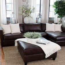 Leather Sectional Living Room Furniture Bring Stately Style To Your Living Room Or Den With This Handsome