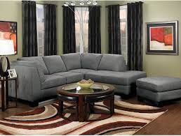 Grey Chaise Sectional Oakdale 2 Piece Microsuede Sectional W Right Facing Chaise Grey