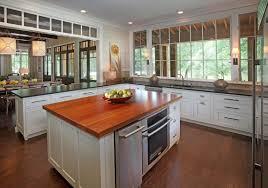 u shape kitchen decoration using red wood kitchen wood countertop