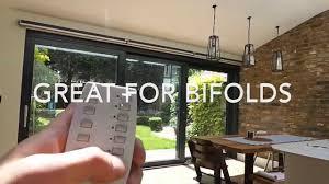 qmotion blinds on bifolding doors youtube