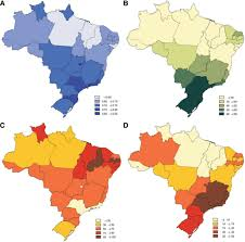 Brazil Map States by Cardiovascular Health In Brazil Circulation