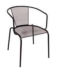 Galvanized Bistro Chair Commercial Wrought Iron Cast Aluminum Outside Steel Chairs