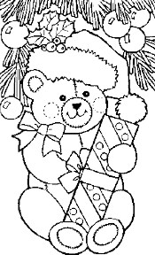 christmas gifts coloring pages teddy coloring pages