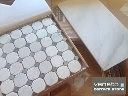 carrara venato gray dot mosaic floor and wall tile the builder