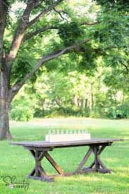 favorite rustic dining table plans ana white woodworking projects