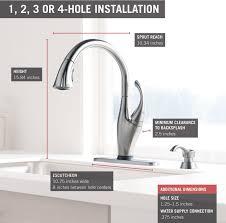 decorating 9192t sssd dst touch kitchen faucet delta delta