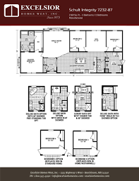 schult modular home floor plans schult integrity 7232 87 excelsior homes west inc
