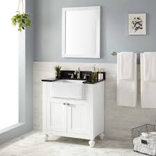 bathroom large white wooden farmhouse bathroom vanity with mirror