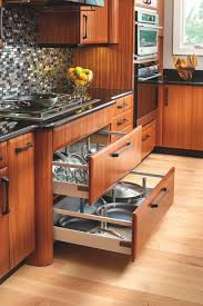kitchen pan storage ideas cabinet shelves pull out pot rack