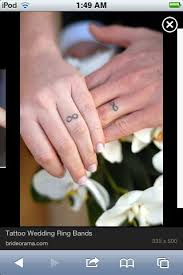 tattoo infinity ring james and i decided were getting tattoo wedding rings divorce is