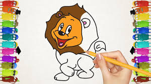 tiger coloring book pages coloring pages desert animals drawing lion tiger u0026 giraffe