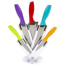 coloured kitchen knives ciclour mck24023 cook in colour knife block multi 5 iwoot