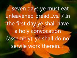 unleavened bread for passover the holy days passover feast of unleavened bread