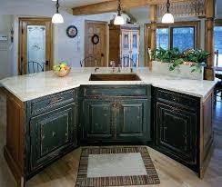 distressed island kitchen custom painted cabinet doors stained distressed island cabinets ma