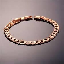 hand bracelet men images Brand bracelet men hand chain gold color jewelry trendy 21cm 7mm jpg