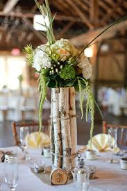Tree Branch Centerpiece by Yellow New England Farm Wedding Wedding Farms And Farm Wedding