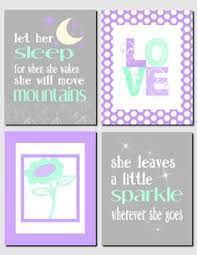 Purple Nursery Wall Decor Shop Lavender Nursery Wall Decor On Wanelo Mint Green