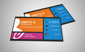Free Business Card Designs Templates Free Business Card Template For Web Graphic Design By Amith000 On